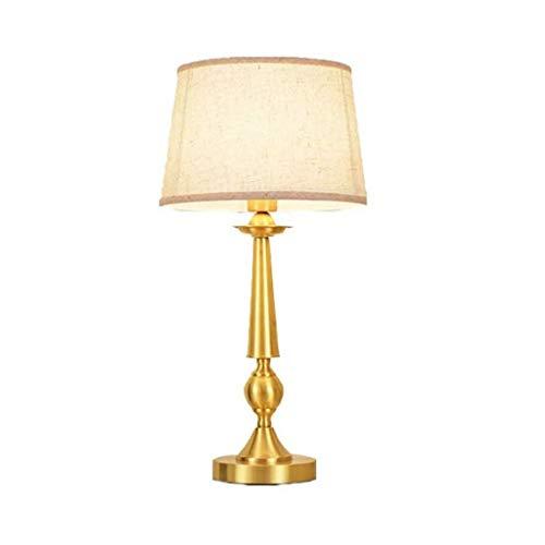 YWSZJ El Cobre lámpara de Escritorio, Sala de Estar Dormitorio de la lámpara de cabecera de la lámpara Moderna Estudio Minimalista, Cloth