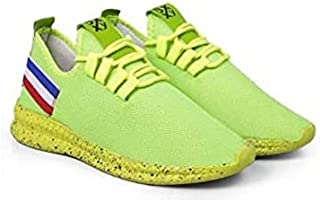 KT Traders Solid Reguler Mesh Lace-Up On Style for Easy Sport Shoes (KT Traders-51-Green-8)