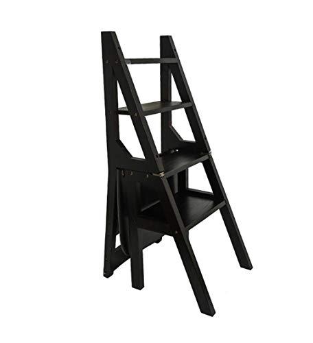 LLCY Taburete plegable de madera maciza de madera maciza para escalones multifunción, escalones, escalones, escalones, escaleras, escalones (color: 4 peldaños anchos)