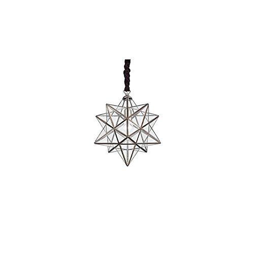 Stella Grand laiton antique pendentif en verre clair et idéal - Lux 144313
