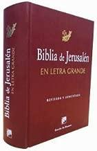 Biblia de Jerusalén - Letra Grande - Revisada y Aumentada