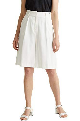 Esprit 040eo1c303 Pantalones Cortos, 100/Blanco, 40 para Mujer