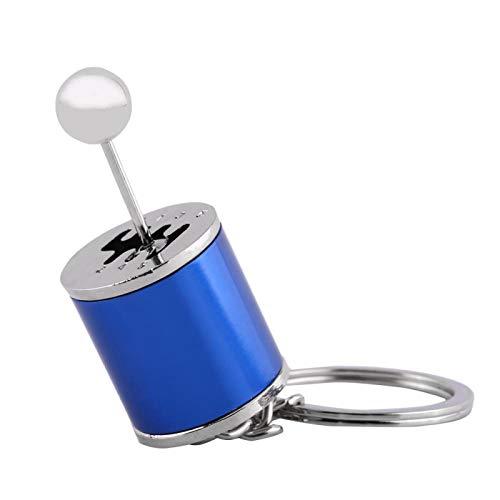 Jeanoko Llavero de Cambio de Coche Llavero de Caja de Cambios Llavero de Palanca de Cambios Llavero de Palanca de Cambios Llaveros de aleación de Metal Monederos de Regalo(Blue)