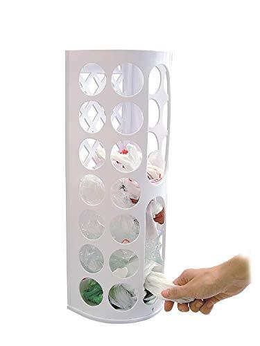 Jocca - Dispensador de Bolsas | Organizador de Bolsas de Cocina | Porta Bolsas Cocina | Capacidad 7,3L | Fácil montaje sin agujeros | 44x16x13 cm 🔥