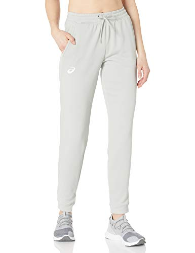 ASICS French Terry Jogger Pantalones de chándal, Team Athletic Gris, Extra-Large para Mujer