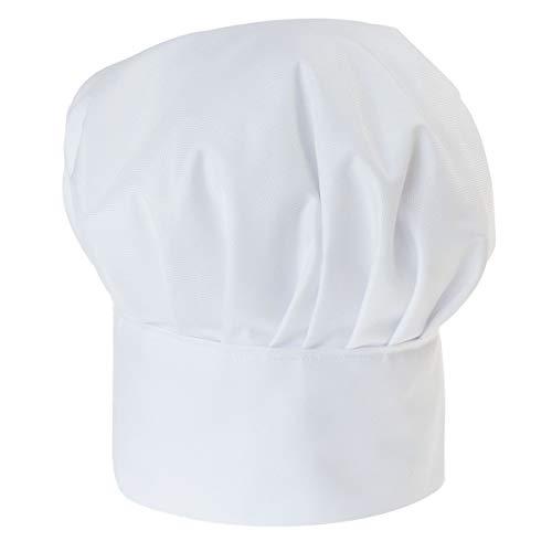 Personalisierte Kochmütze Für Kinder Jungen und Mädchen Weiß Kochhaube mit Ihrem Wunschtext/Grafik Klettverschluss Weiß [099]