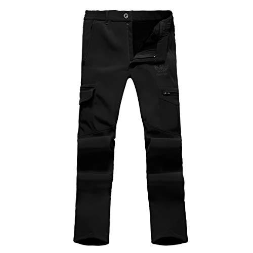 Ynport Crefreak Pantalón elástico con Forro Polar para Hombres Pantalones de Soldador a Prueba de Viento
