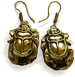 Pharaonic Scarab Earrings | Ancient Egypt Jewelry | Egyptian Accessories