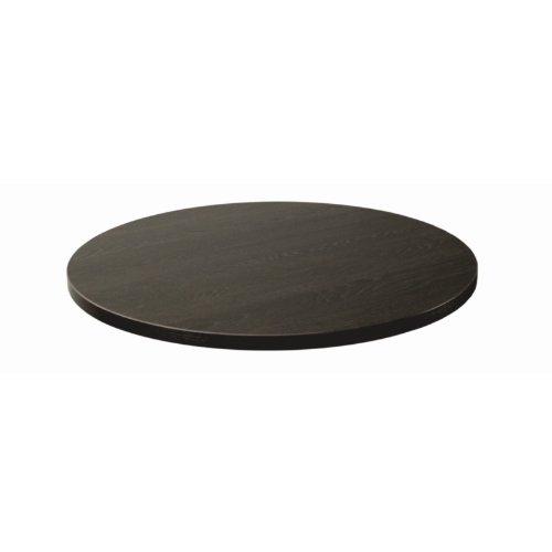 Lamidur gg290 haut Finition chêne Table ronde, 600 mm, noir, marron