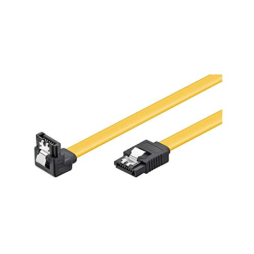 Wentronic HDD S-ATA Kabel 1,5GBs/3GBs/6GBs (S-ATA L-Type auf L-Type 90) 0,3m gelb