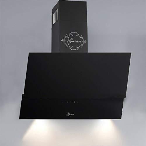 GURARI GCH D 268 9 Prime Hotte aspirante 90 cm en verre noir Classe d'efficacité énergétique A 1000 m³/h, télécommande, hotte murale, aspiration / recirculation d'air