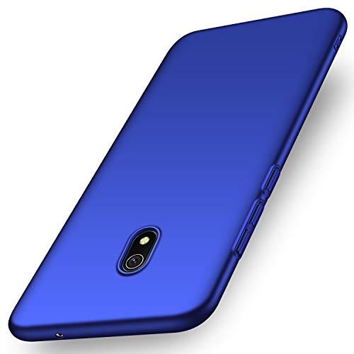 anccer Kompatibel mit Xiaomi Redmi 8A Hülle [Serie Matte] Elastische Schockabsorption & Ultra Thin Design für Redmi 8A (Glattes Blau)