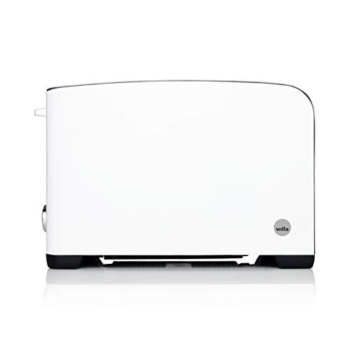 Wilfa FROKOST Toaster - 2 extra breite Toastschlitze, 5 Bräunungsstufen mit Auftau-, Wiederaufheiz- und Abbrechfunktion, weiß