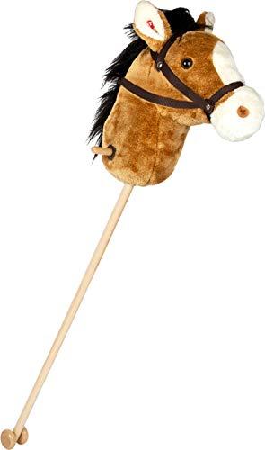 Small Foot 11718 Steckenpferd Nico, aus Holz und Plüsch, mit Halfter, Zügeln, Haltegriffen & Geräuschen, ab 3 Jahren Toys