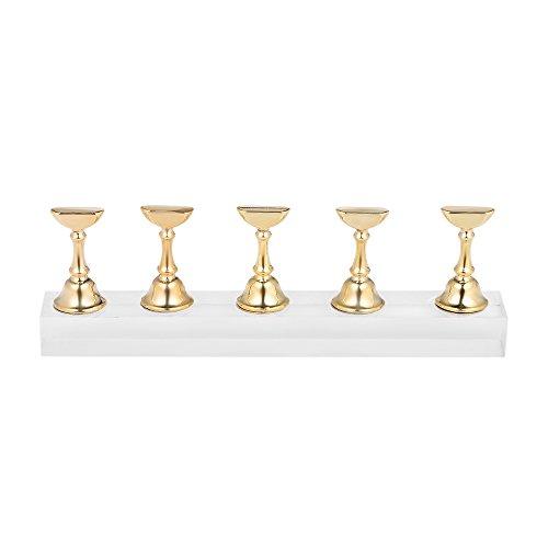 Présentoir d'art d'ongle de manucure, Anself Transparent Acrylique Présentoir à Ongles, Pointes à Ongles Magnétiques Présentoirs pour Ongle de Pratique Supports de Cristal à Ongles Bricolage
