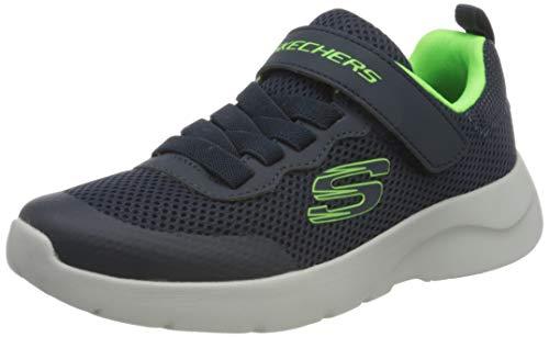 Skechers Jungen Dynamight 2.0 Vordix Sneaker, Blau (Navy & Lime Textile & Trim Nvlm), 36 EU