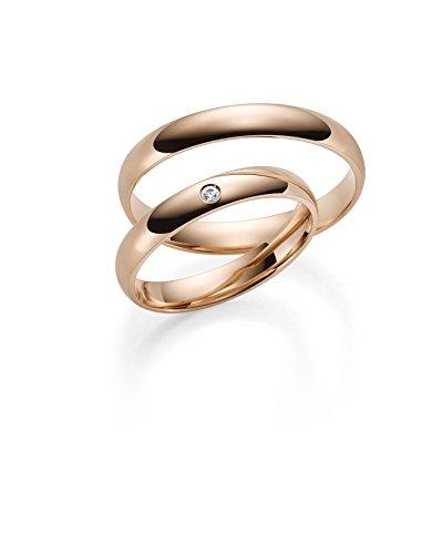 333Oro Rojo Oro Rose alianzas de oro par de precio–Rubin Joyero de Incluye grabado