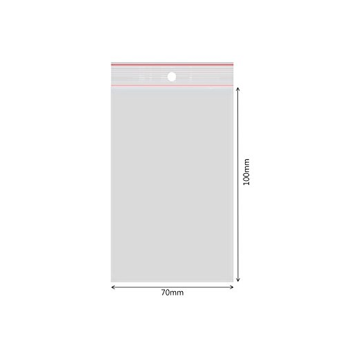 verpacking 500 Druckverschlussbeutel Polybeutel Zip-Beutel Verschiedene Größen 70 x 100 mm