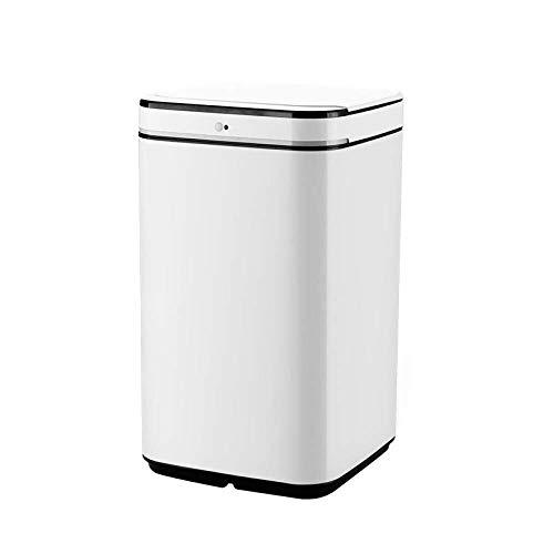 JIAHE115 Automatische vuilnisbak 2019 nieuwe 10L-13L vuilnisbak Touchless Automatische vuilnisbak Accessoire Keuken Sensor Automatische vuilnisbak Office Afvalbak, Wit, 10L Huishoudelijke decoratieve opbergbak