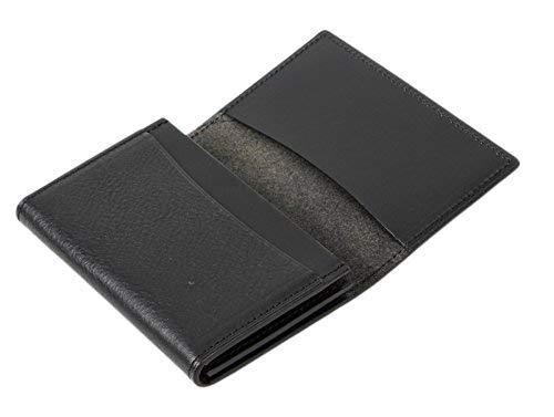 sin leather 名刺入れ 本革 日本製 大量 50枚収納 2ポケット 通しマチ ミネルバボックス ブラック