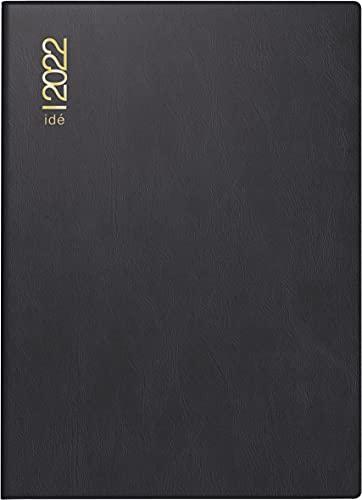 rido/idé 7013202902 Taschenkalender perfect/Technik I, 2 Seiten = 1 Woche, 100 x 140 mm, Kunststoff-Einband schwarz, Kalendarium 2022