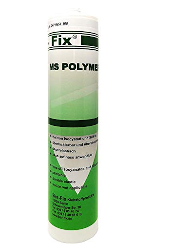 Ber-Fix® MS Polymer - Montagekleber Transparent - Metall Holz PVC Fenster Stein Fliese Gummi auch als Unterwasserkleber für Pool Aquarium und Teich – kleben und dichten