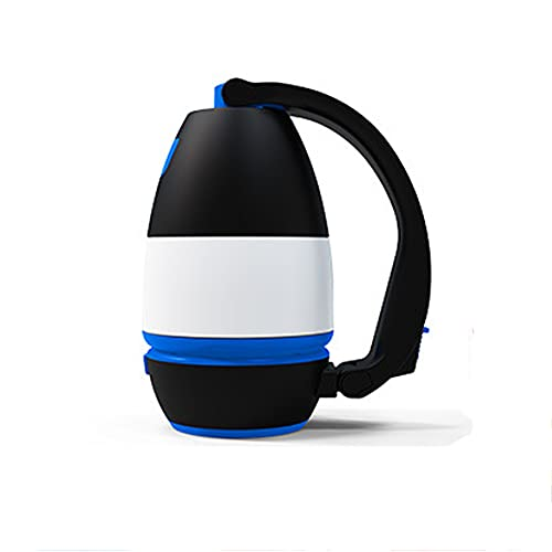 ZQWE Lámpara de Cámping LED, Antorchas, USB Recargable y con Pilas, Farol Cámping Resistente Al Agua, Luz de Trabajo Exterior para Emergencias, Senderismo, Pesca y Más (Blue)