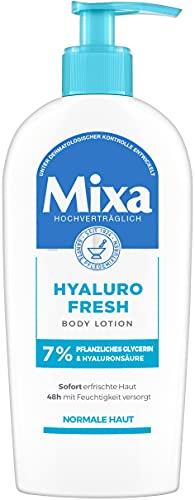 Mixa Hyaluro Fresh Body Lotion mit pflanzlichem Glycerin und Hyaluronsäure für normale Haut, 250 g, D3673600