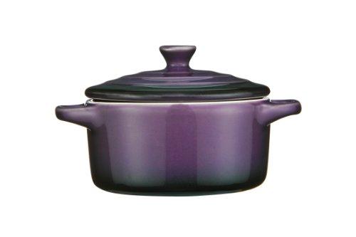 Premier Housewares OvenLove Mini Plat Cocotte Violet- Plat à Four avec Couvercle- 230ml