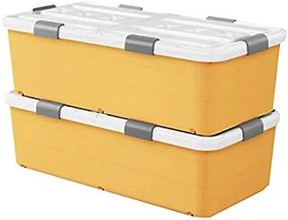 Lpiotyucwh Paniers et Boîtes De Rangement, 2pcs Boîte de Rangement de vêtements de Grande capacité, avec couvercles de Ver...