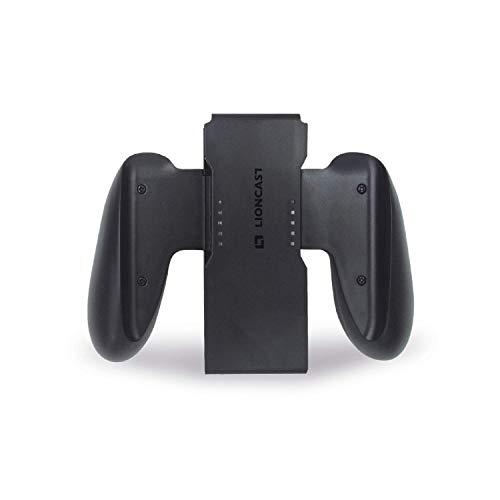 Lioncast Grips para Joy Con - Empuñadura de Carga Compatible con los Mandos Joy-Con - Carga USB-C - Fácil de Usar, Ergonómico y Cómodo para Jugar - Pantalla LED - Accesorios para Nintendo Switch