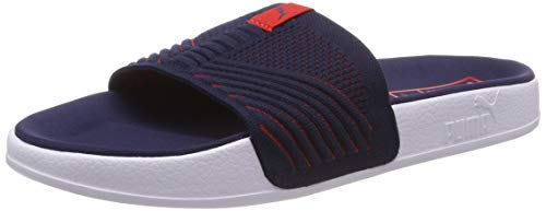 PUMA Unisex-Erwachsene Leadcat Knit Premium Badeschuhe, Blau (Peacoat-High Risk Red), 43 EU