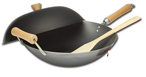 Nonstick Wok 14-Inch Dishwasher Safe Oven Safe PFOA-Free Wok Pan Cookware With Dome Lid