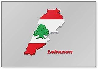 Aimant de r/éfrig/érateur carte et drapeau du Liban