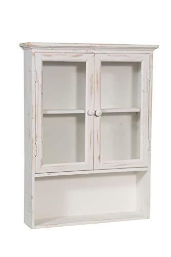 Biscottini vetrinetta vetrina piattaia bacheca da appendere a muro da parete mobile espositore shabby bagno libreria in legno da soggiorno L48XPR12XH63 CM