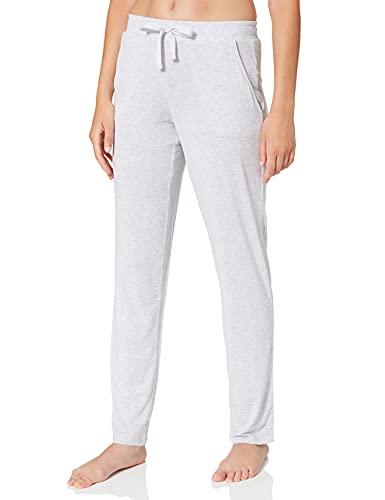 Schiesser Damen Mix & Relax Jerseyhose lang Schlafanzughose, Grau (Grau-Mel. 202), 36