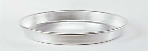 Pentole Agnelli Pasticceria Teglia Tonda Pesante per Pizza, Alluminio, 50 cm