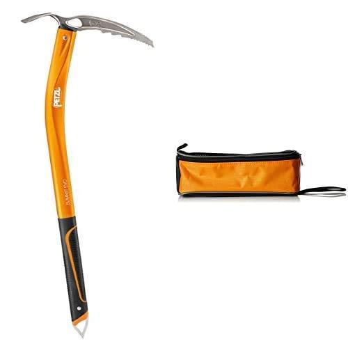 PETZL Eispickel Summit EVO - Piolet de Escalada, Color Naranja, Talla 52...