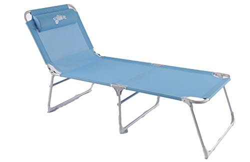 Old Bahama Bay Easy Adjustable Folding Reclining Beach Lounger Beach Cot Set UP Size 76' (L) X 25' W X 15.75' (H)