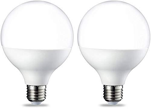 AmazonBasics E27 LED Lampe, Globe, 14.5W (ersetzt 100W), warmweiß, 2er-Pack