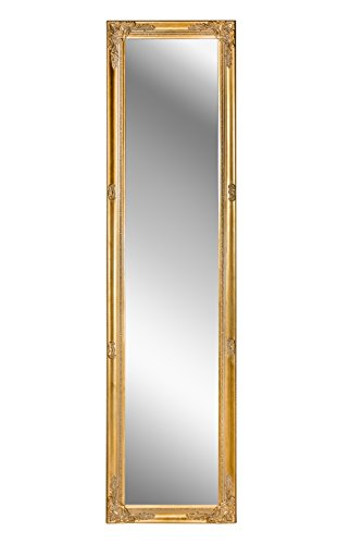 B.U.S. Wohnstyle Spiegel Wandspiegel antik Gold Barock CARA 160 x 40 cm