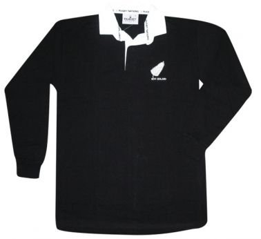 New Zealand All Blacks Polo de Rugby pour Homme Taille L (112-122 cm)