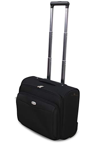 VALIGIA TROLLEY BAGAGLIO A MANO Pilota Business RYANAIR EASY JET LOW COST (NERO)