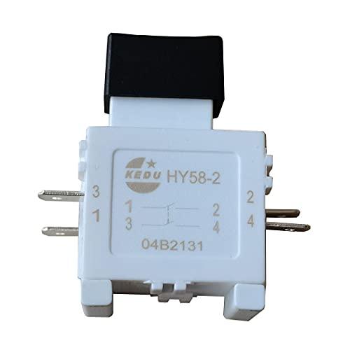 Interruptor de gatillo KEDU, interruptor de botón de herramienta eléctrica portátil AC 120V 19A 250V 16A CE TUV HY58-2