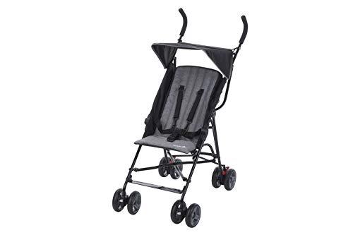 Safety 1st 1115666000 Safety 1st Buggy Flap, leichter Kinderwagen mit Sonnendach, Relax-Position und extra Polsterung (ab 6 Monate bis 15 kg), black chic (schwarz), schwarz
