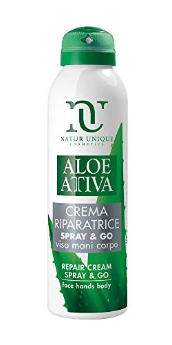 NATUR UNIQUE, Aloe Attiva Crema Riparatrice Spray & Go - 150 ml