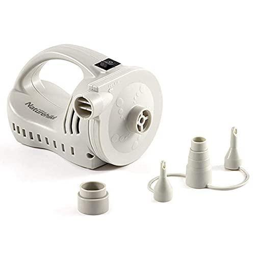 LIANGJING Bomba de aire eléctrica para inflables Set Mini bomba de aire portátil de alta potencia con boquilla de aire y cable de datos