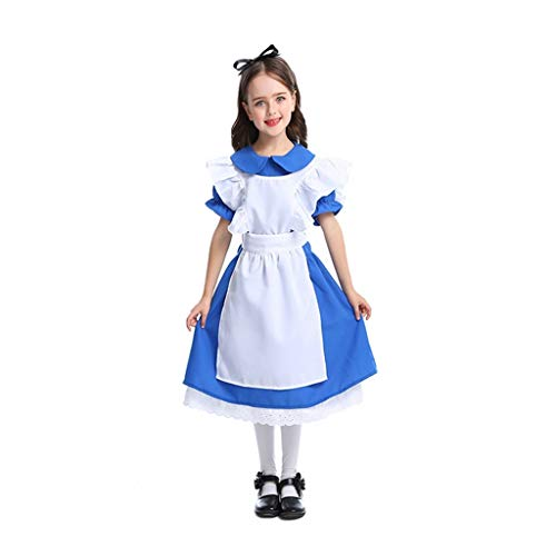 Disfraces halloween nio Vestido de lujo de Halloween Princesa de la muchacha del traje for arriba, Fiesta del vestido de lujo de Cosplay del vestido de bola (incluyendo Headwear vestido, delantal) di