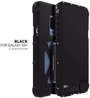 三星 Galaxy S9 Plus 手机壳,Galaxy S9 Plus 奢华闪耀钻石 PU 皮翻盖钱包卡包手机套适用于三星 Galaxy S9 Plus King Black
