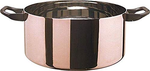 "Alessi LA Cintura di Orione"" Fleischtopf 24cm ∅, Kupfer, Silber, 24 cm"
